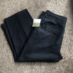 🍊NWT Black Tie Waist Crop Pants